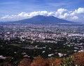 Mount Vesuvius, Near Naples, Italy. Royalty Free Stock Photo