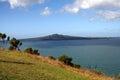 Mount victoria new zealand hauraki gulf and rangitoto island from in auckland Stock Photo