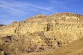 Mount wall of Small Crater in Negev desert. Royalty Free Stock Photo