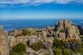 Stunning summit of Mount Wellington overlooking Hobart and the southern Tasmania coast Royalty Free Stock Photo