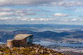Mount Wellington lookout structure, Tasmania Royalty Free Stock Photo