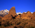 Mount Whitney & Alabama Hills 2 Royalty Free Stock Images