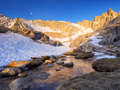 Mount Whitney High Camp - Morning Hue Royalty Free Stock Photo