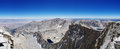 Mount Whitney Summit Panorama Stock Image