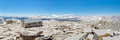 Mount Whitney Summit Panorama Stock Images