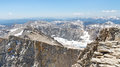 Mount Whitney Summit Scenery Stock Images