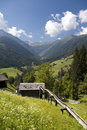Mountaiin valley village in Austrian Alps Royalty Free Stock Photos