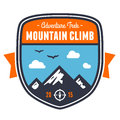 Mountain adventure badge emblem climbing graphic design Royalty Free Stock Photography