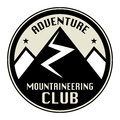 Mountain adventure label club icon or sign Royalty Free Stock Images