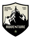 Mountain adventure label or sign Royalty Free Stock Images