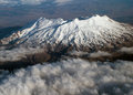 Mountain ariel photograph of mt ruapehu in new zealand Royalty Free Stock Photography