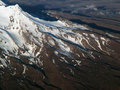 Mountain ariel photograph of mt ruapehu in new zealand Royalty Free Stock Images
