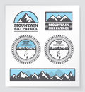 Mountain badges and labels Royalty Free Stock Photo