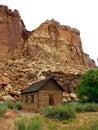 Mountain barn Royalty Free Stock Photo