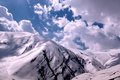 Mountain a beautiful landscape of the mount damavand with a partly cloudy sky damavand is the symbol of iranian resistance Stock Images