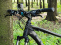 Mountain bicycle by CUBE with GoPro 3+ BE mounted on handlebar