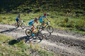 Mountain bike adventure competition Royalty Free Stock Photo