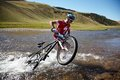 Mountain bike adventure competition Royalty Free Stock Image