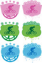 Mountain bike badges. Stock Photo