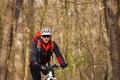 Mountain Bike cyclist riding single track Royalty Free Stock Photo