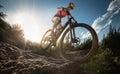 Mountain Bike cyclist Royalty Free Stock Photo