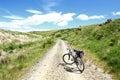 Mountain Bike on the Otago Central Rail Trail, New Zealand Royalty Free Stock Photo