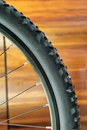 Mountain bike wheel Royalty Free Stock Photo