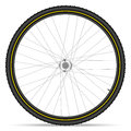 Mountain bike wheel Royalty Free Stock Photo