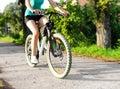 Mountain bike woman Royalty Free Stock Photo