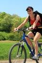 Mountain biking, Bike fun Royalty Free Stock Photo