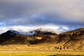 Mountain with blue sky near shigatse city Royalty Free Stock Photos