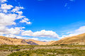 Mountain with blue sky near shigatse city Royalty Free Stock Photography