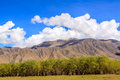 Mountain with blue sky near shigatse city Royalty Free Stock Photo