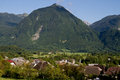 Mountain in bovec a a town the littoral region northwestern slovenia close to border with italy Royalty Free Stock Photography