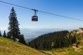 Mountain cable car in a sunny day Royalty Free Stock Photo