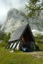 Mountain chappel in gosau austria under the ridge Stock Photos