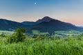 Mountain choc at sunrise near dolny kubin slovakia view of the in summer Stock Image