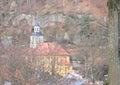 Mountain church Oybin Royalty Free Stock Photo