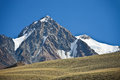 Mountain, cliffs, glaciers and snowfields in the Tien Shan Royalty Free Stock Photo