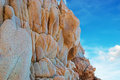 Mountain and clouds typical gallura rocks under a blue sky Royalty Free Stock Photography