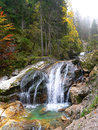 Mountain creek with cascades german landscape Royalty Free Stock Images