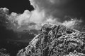 Mountain in Dolomites Royalty Free Stock Photography