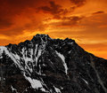 Mountain dom in the sunset wallis swiss alps Stock Photography
