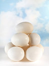 Mountain eggs stacked eachother balance Stock Photos