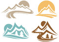 Mountain emblem collection designs Royalty Free Stock Photography