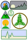 Mountain and Environmental Business Icon Vector Royalty Free Stock Photos