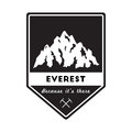 Mountain Everest outdoor adventure insignia.