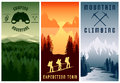 Mountain Expeditions Vertical Banners Set