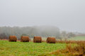 Mountain farm land in virginia mountains on a misty day Royalty Free Stock Image