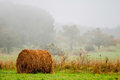 Mountain farm land in virginia mountains on a misty day Royalty Free Stock Photo